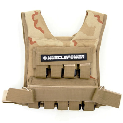 Weight Vest 20KG Camo | Muscle Power®