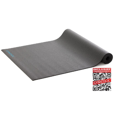 Active Fitnessmat Black 4MM | Gymstick®